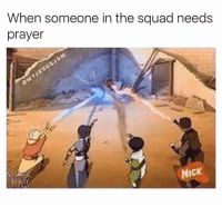 Squad, Link, and Nick: When someone in the squad needs  prayer  NICK Tap the link in my bio 🔉❤️ And tag someone You are praying for! 🙏 Credit @myjesusjam