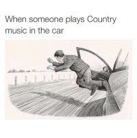 Cars, Fucking, and Music: When someone plays Country  music in the car Fuck this shit im out