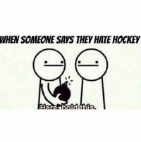 WHEN SOMEONE SAYS THEY HATE HOCKEY Tag a hockey hater