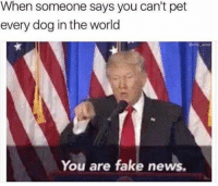 WRONG (@mo_wad): When someone says you can't pet  every dog in the world  Onno Mad  You are fake news. WRONG (@mo_wad)