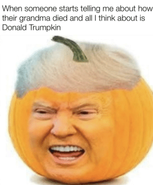 Grandma, Memes, and Reddit: When someone starts telling me about how  their grandma died and all I think about is  Donald Trumpkin For some reason, my recent memes have been garbage