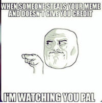 WHEN SOMEONE STEALS YOUR MEME  AND DOSINT GIVE TOUCREDIT  IM WATCHING YOU PAL