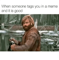 Funny, Meme, and Good: When someone tags you in a meme  and it is good Thanks you for this meme. It is a good meme.