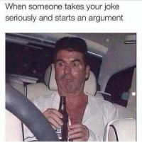 Memes, 🤖, and Following: When someone takes your joke  seriously and starts an argument @girlwithnojob is a must follow