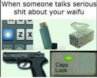 -normin: When someone talks serious  shit about your waifu  Caps  Lock -normin