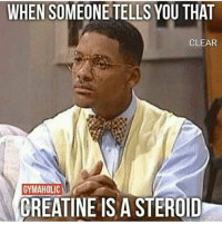 Please tell me more... 😑 . @officialdoyoueven 👈💯: WHEN SOMEONE TELLS YOU THAT  CLEAR  GYMAHOLIC  CREATINE IS ASTEROID Please tell me more... 😑 . @officialdoyoueven 👈💯