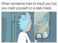 Funny, Roast, and You: When someone tries to insult you but  you roast yourself on a daily basis 😏