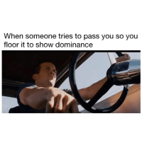 Memes, Sorry, and 🤖: When someone tries to pass you so you  floor it to show dominance Sorry, MX-5 guys won't understand...