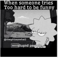 That's me sometimes 😂😂✋🏼 funny stupid thatgirlsayswhat: When someone tries  Too hard to be funny  @that girlsayswhat2  stupid people That's me sometimes 😂😂✋🏼 funny stupid thatgirlsayswhat