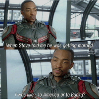 When Steve told me he was getting married.  ultimate  nerdgirl  was like to America or to Bucky? Merry Christmas guys, Seriously I envy everything y'all getting like Comics anf Tvs and clothes and new phones, for those people who arent getting anything respect because I feel ur pain 😂