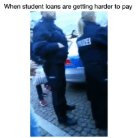 Af, Funny, and Lmao: When student loans are getting harder to pay Lmao smart af 😂💀