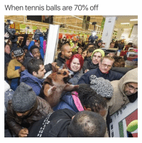 Friday, Funny, and Tennis: When tennis balls are 70% off BARK FRIDAY