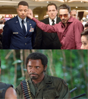 When Terrence Howard left, Marvel wanted Robert Downey Jr. to take over the James Rhodes role based on his performance in Tropic Thunder (2008). However, he was already playing as Iron Man.: When Terrence Howard left, Marvel wanted Robert Downey Jr. to take over the James Rhodes role based on his performance in Tropic Thunder (2008). However, he was already playing as Iron Man.