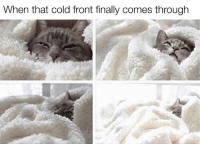 Thats Cold: When that cold front finally comes through