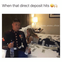 Memes, Pop, and 🤖: When that direct deposit hits  pop_smoke_official We all know someone like this. Credit: @6captainmorgan9