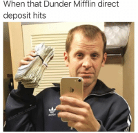 Memes, 🤖, and Dunder Mifflin: When that Dunder Mifflin direct  deposit hits cringe