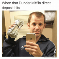 @adam.the.creator is the biggest legend: When that Dunder Mifflin direct  deposit hits  of  toDiDO  MADE WITH MOMUS @adam.the.creator is the biggest legend