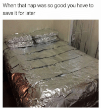 Memes, 🤖, and Nap: When that nap was so good you have to  save it for later When I take naps I just wake up confused as shit and start questioning my existence • ➫➫ Follow @savagememesss for more posts dail