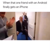 Android, Funny, and Iphone: When that one friend with an Android  finally gets an iPhone This clip will always be a classic 😂