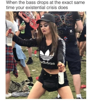 Memes, Time, and Bass: When the bass drops at the exact same  time your existential crisis does  didas Shamelessly stolen memes dumped for you
