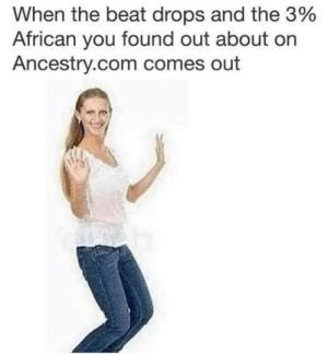 meirl by Donald2412 MORE MEMES: When the beat drops and the 3%  African you found out about on  Ancestry.com comes out meirl by Donald2412 MORE MEMES