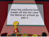 California, Irl, and Me IRL: when the california fault  breaks off into the coast  the liberal art schools go  with it