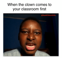Creepy Clown D e a t h Threats: When the clown comes to  your classroom first  CoDank Chinchilla Creepy Clown D e a t h Threats