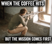 BLACK RIFLE COFFEE - fuel your day   #brcc #blackrifle #america #freedom: WHEN THE COFFEE HITS  BUT THE MISSION COMES FIRST BLACK RIFLE COFFEE - fuel your day   #brcc #blackrifle #america #freedom