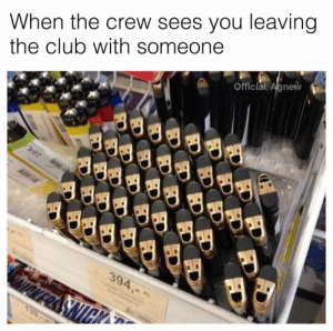 Club, The Crew, and Day: When the crew sees you leaving  the club with someone  Official. Agnew  394,-  Aeres SNICK  139 On that day aswell