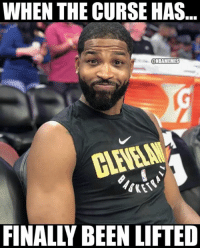 Tristan Thompson right now. 😂: WHEN THE CURSE HAS  @NBAMEMES  FINALLY BEEN LIFTED Tristan Thompson right now. 😂