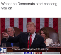 News, Reddit, and Fox News: When the Democrats start cheering  you on  You weren't supposed to do that  FOX  NEWS  ade  AT