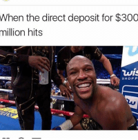 Memes, 🤖, and Deposition: When the direct deposit for $300  million hits  wis  SHOPP