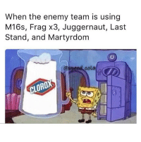 Memes, Martyrdom, and 🤖: When the enemy team is using  M16s, Frag x3, Juggernaut, Last  Stand, and Martyrdom  @speed cola  CLORO 😒 (@speed.cola)