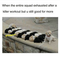 😅💪🏼 @doyoueven: When the entire squad exhausted after a  killer workout but u still good for more  Qthegai 😅💪🏼 @doyoueven