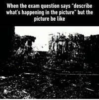 9gag, Be Like, and Memes: When the exam question says describe  what s happening in the picture but the  picture be like My every History exam Follow @9gag