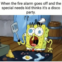 "Dank, Fire, and Meme: When the fire alarm goes off and the  special needs kid thinks it's a disco  party. <p>A🅱️tist🅱️c XD via /r/dank_meme <a href=""http://ift.tt/2Ayhq1P"">http://ift.tt/2Ayhq1P</a></p>"