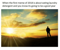 The First Meme: When the first meme of 2018 is about eating laundry  detergent and you know its going to be a good year