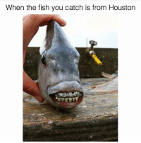 When the fish you catch is from Houston The grill tho😂