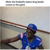 Chill, Drug Dealer, and Funny: When the football's teams drug dealer  comes to the game LmO yoooo chill😂💀💀