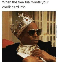 How about no?: When the free trial wants your  credit card info How about no?