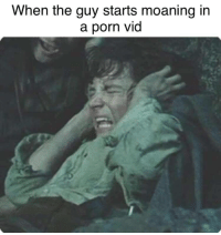 Black, Porn, and Guy: When the guy starts moaning in  a porn vid Black speech of Mordor!