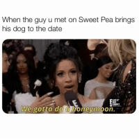 Honeymoon, Date, and Link: When the guy u met on Sweet Pea brings  his dog to the date  We gotta do a honeymoon. At the end of the day, it's all about who you want to raise a dog with 💕 Link in bio to download @sweetpeaapp