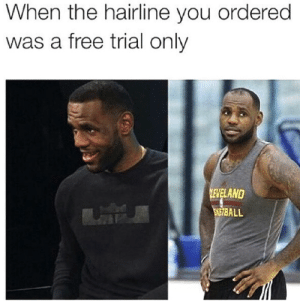 He knew that he fucked up.: When the hairline you ordered  was a free trial only  ELAND  SE7BALL He knew that he fucked up.