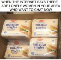 America, Internet, and American: WHEN THE INTERNET SAYS THERE  ARE  LONELY WOMEN IN YOUR AREA  WHO WANT TO CHAT NOW  76  16  america  imitation  merican  imitation  singles  singles  16  american  imitation  singles  imitation  singies