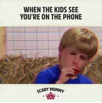 Dank, 🤖, and Work From Home: WHEN THE KIDS SEE  YOU'RE ON THE PHONE  SCARY MOMN Hahahaha - this is pretty much any snow day or holiday when I'm working from home.  See also: ALL SUMMER LONG
