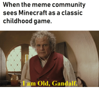 Be Like, Community, and Gandalf: When the meme community  sees Minecraft as a classic  childhood game.  Iam Old, Gandalf It really do be like that via /r/memes http://bit.ly/2DZ39ez
