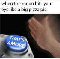 Pizza, Moon, and Eye: when the moon hits your  eye like a big pizza pie  THAT'S  AMORE  割)