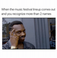 Funny, List, and Vip: When the music festival lineup comes out  and you recognize more than 2 names TICKET GIVEAWAY: Just saw the lineup for @fireflymusicfestival and all I can say is wow... The Weeknd, Muse, Twenty One Pilots, Chance The Rapper, Bob Dylan, the list goes on and on. TAG your bestie in the comments for your chance to win one of two pairs of VIP 4-day passes to this year's festival! Five runners up will win a single-day pass to Firefly.