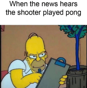 Remember no Russian: When the news hears  the shooter played pong Remember no Russian