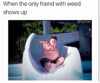 Memes, Weed, and Tree: When the only friend with weed  shows up  @Top Tree perfect timing 💦